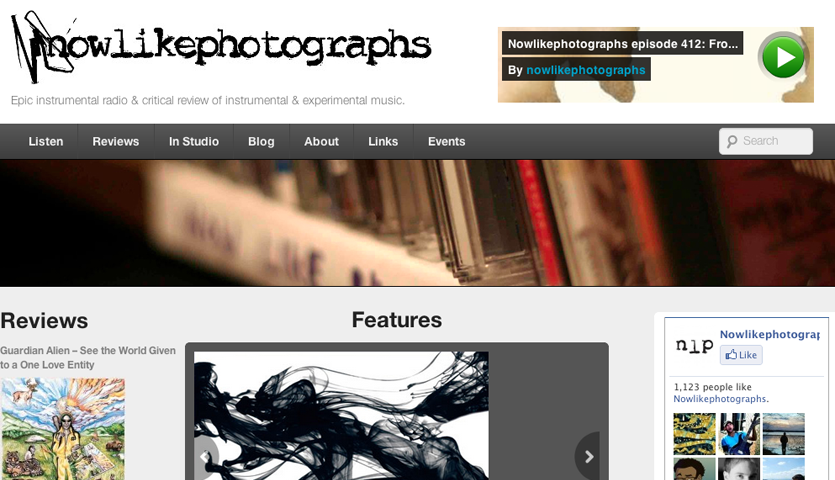 Now like photographs website screen capture